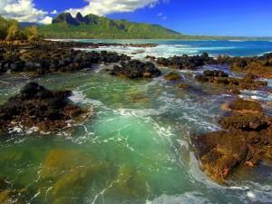 Zona rocosa en el mar