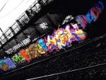 Grafitis en la vía del tren