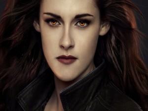 Kristen Stewart con ojos de vampira