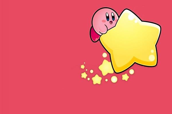 Kirby sobre una estrella amarilla