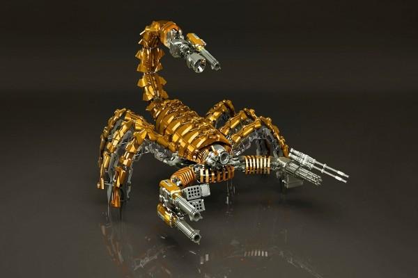 Escorpión armado