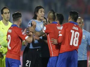 """Tensión en cuartos de final Chile contra Uruguay """"Copa América Chile 2015"""""""