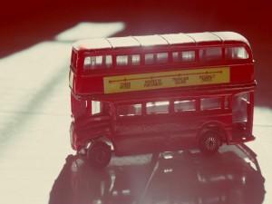Autobús londinense de juguete