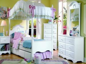 Elegante dormitorio para niñas