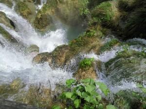 Saltos de agua en el  Parque Nacional de los Lagos de Plitvice