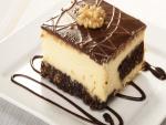 Pastel de queso con chocolate y frutos secos