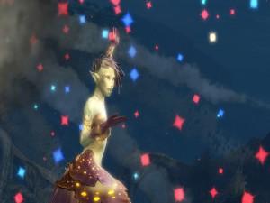 Elfa bailando en la noche