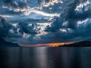 Tranquilidad en el lago Lemán