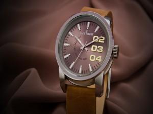 Distinguido reloj de cuero Jack Pierre