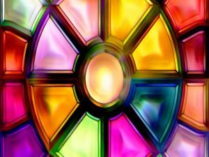 Vidrio colorido