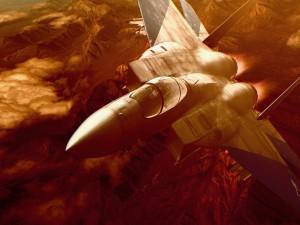 "Imagen del simulador de vuelo ""Ace Combat Zero: The Belkan War"""