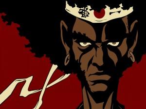 """Afro, protagonista de la serie anime """"Afro Samurai"""""""