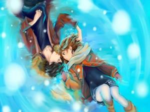 Futaba y Kou (Ao Haru Ride)