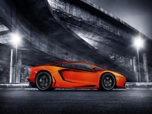 Lamborghini Aventador naranja
