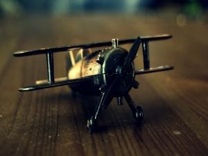 Avioneta en miniatura