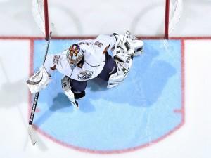 Portero de hockey sobre hielo