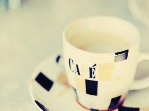 Taza llena de café