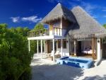 Exótica cabaña en Maldivas