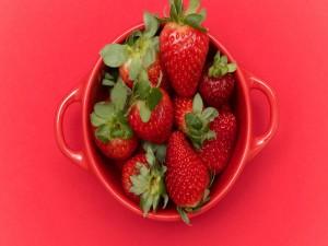Recipiente con fresas