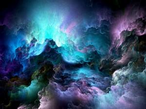 Nubes coloridas abstractas