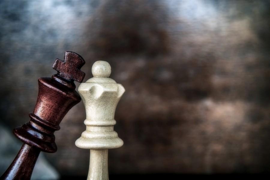 Dos fichas de ajedrez