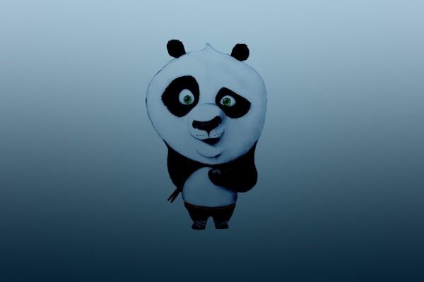 La cara chistosa de un panda