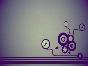 Flechas y círculos en una imagen abstracta