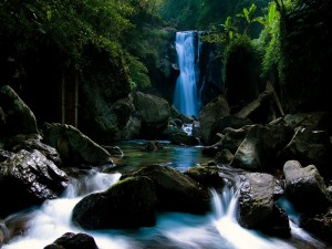 Cascada en un bonito río