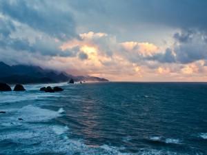 Hermosa vista del mar y la costa