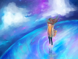La soledad de una chica anime