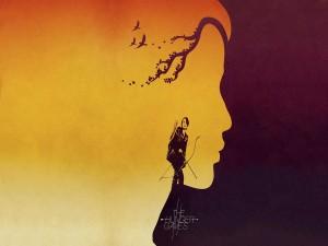 """Ilustración de Katniss en """"Los Juegos del Hambre"""""""