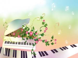 Melodía y flores