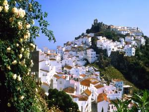 Casas en el pueblo de Casares (Málaga)