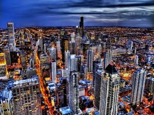 Gran ciudad iluminada