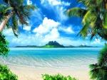 Playa de aguas transparentes