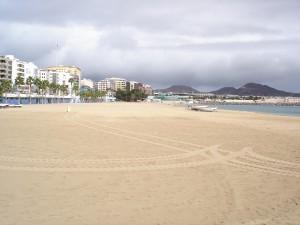 Playa de Las Alcaravaneras (Gran Canaria, España)