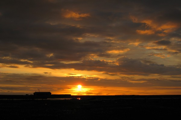 Pequeño sol visto al amanecer