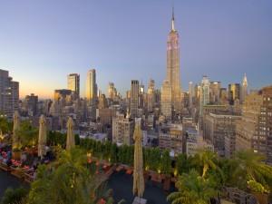 Terraza en una azotea de Nueva York