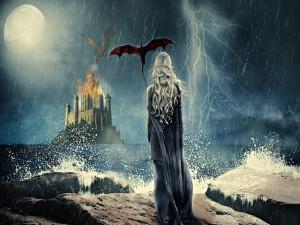 """Ilustración de Daenerys """"Madre de Dragones"""" (Juego de Tronos)"""
