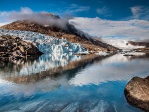 Espectacular glaciar en Groenlandia
