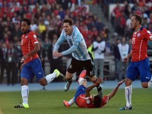 "Messi (Argentina) en la final contra Chile ""Copa América Chile 2015"""