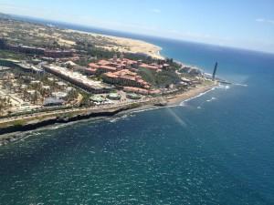 Hermosa vista de Maspalomas (Gran Canaria)