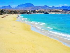 Bonita playa de Fuerteventura (Canarias)
