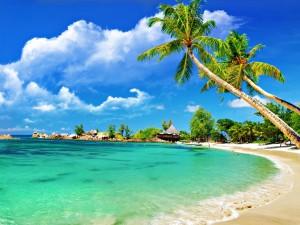 Bonita playa de color turquesa