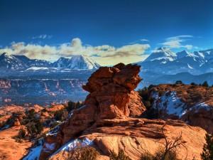 Roca en el desierto de Mojave