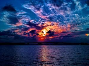 Hermosas nubes pintando el cielo