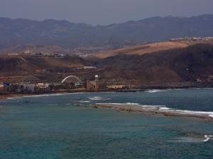 Vista de la playa de Las Canteras (Gran Canaria)