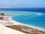Bonita vista de la  playa de Sotavento (Fuerteventura)