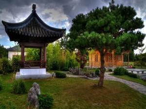 Bonito jardín oriental