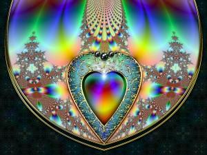 Corazón en una figura abstracta